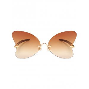 Unique Rimless Pearl Butterfly Sunglasses -
