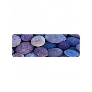 Oval Stones Pattern Anti-skid Water Absorption Area Rug -