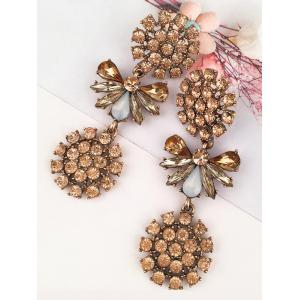 Artificial Crystal Alloy Floral Party Earrings -
