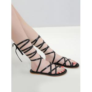 ... Toe Ring Lace Up Gladiator Sandals ...