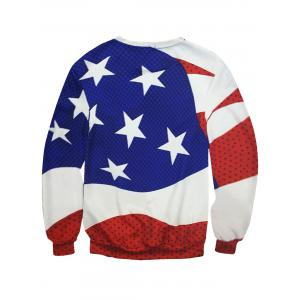 Crew Neck Star Polka Dot Sweatshirt -