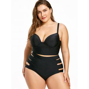 Plus Size Moulded Midkini Swimsuit -