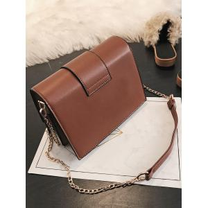 Faux Leather Shopping Crossbody Bag -