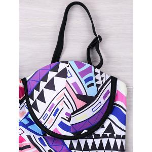 One Piece Tribal Geometric Empire Waist Swimwear -