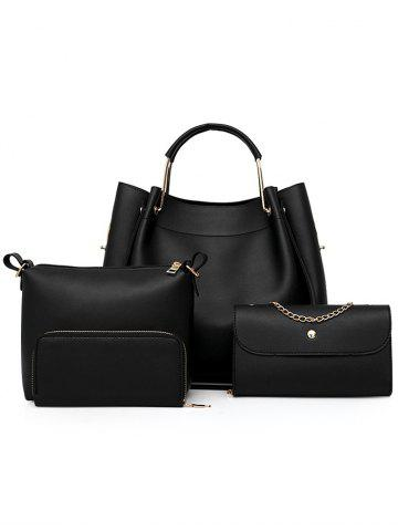 Hot PU Leather Tote Satchel Purse Hand Bag 4 Pieces Set