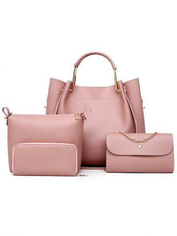 Outfits PU Leather Tote Satchel Purse Hand Bag 4 Pieces Set
