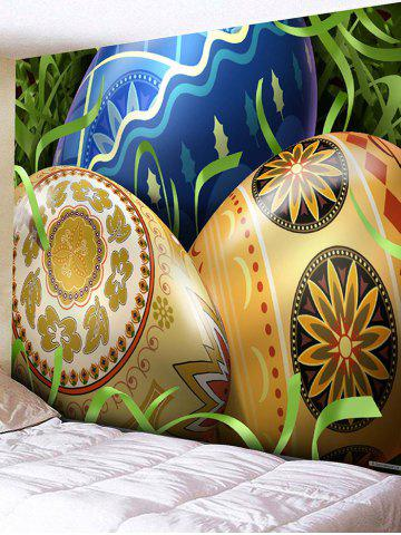 Fashion Colorful Easter Eggs Printed Wall Hanging Art Tapestry