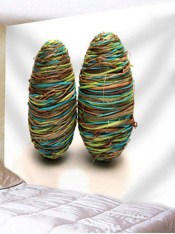 Chic Rope Winding Eggs Print Wall Hanging Tapestry