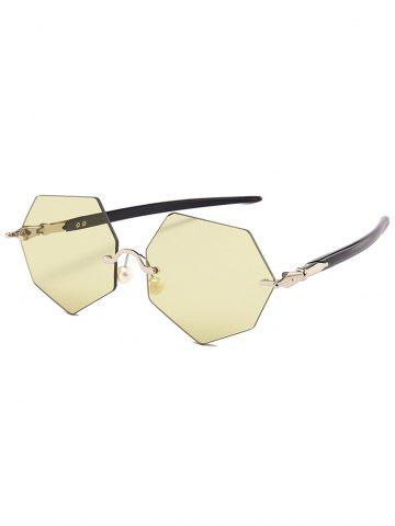 Affordable Anti UV Irregular Rimless Lens Pearl Sunglasses