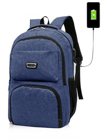 Chic USB Charging Port Casual Trips Travel Backpack