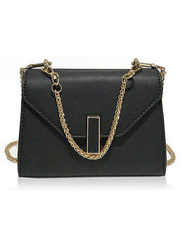 Chic Faux Leather Flap Crossbody Bag with Chain