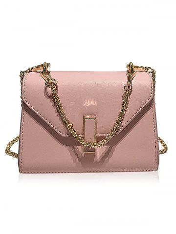 Affordable Faux Leather Flap Crossbody Bag with Chain