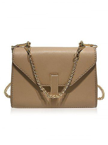 Latest Faux Leather Flap Crossbody Bag with Chain
