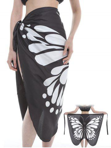 Fancy Flying Butterfly Pattern Silky Beach Scarf