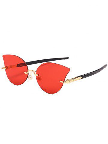 Shops Anti UV Rimless Pearl Driver Sunglasses