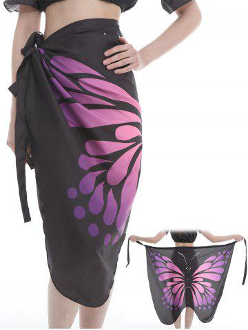 Unique Flying Butterfly Pattern Silky Beach Scarf
