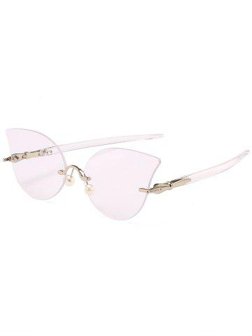 Buy Anti UV Rimless Pearl Driver Sunglasses