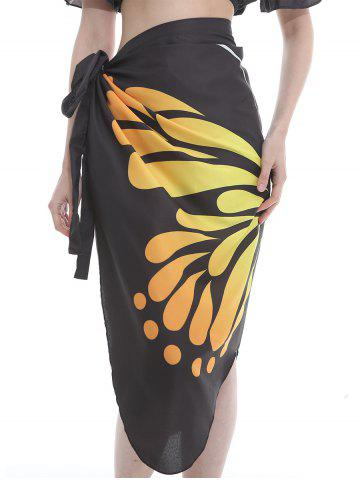 Chic Flying Butterfly Pattern Silky Beach Scarf