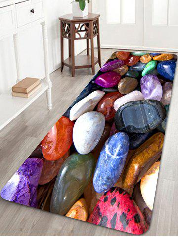 Affordable Colorful Cobblestones Print Floor Area Rug