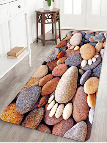 Discount Stones Foot Pattern Anti-skid Water Absorption Area Rug