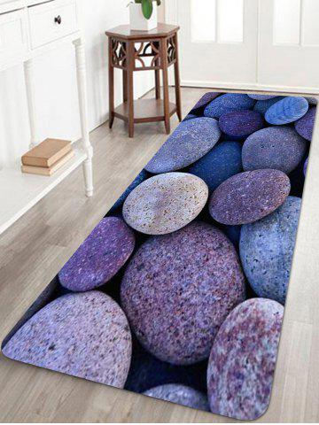 Chic Oval Stones Pattern Anti-skid Water Absorption Area Rug