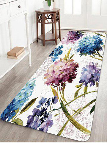 New Flowers Pattern Anti-skid Water Absorption Area Rug