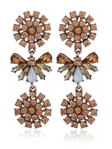 Fashion Artificial Crystal Alloy Floral Party Earrings