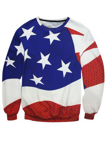Unique Crew Neck Star Polka Dot Sweatshirt