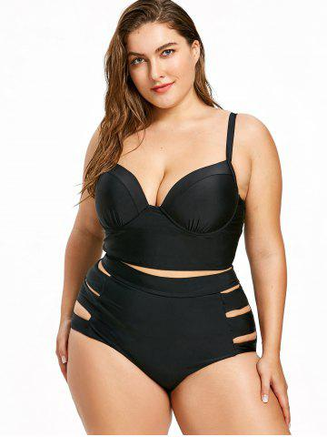 0bd7eefc88 Plus Size Moulded Bustier Swimsuit