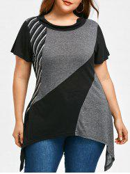 Plus Size Summer Sharkbite Hem T-shirt -