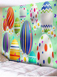 Cartoon Easter Egg Print Wall Tapestry - Multi - W91 Inch * L71 Inch