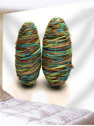 Rope Winding Eggs Print Wall Hanging Tapestry -