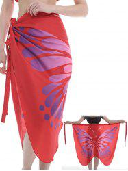 Flying Butterfly Pattern Silky Beach Scarf -