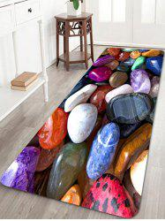 Colorful Cobblestones Print Floor Area Rug -