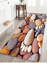 Stones Foot Pattern Anti-skid Water Absorption Area Rug -