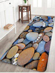 Stones Footprint Pattern Anti-skid Water Absorption Area Rug -