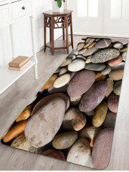 Pebbles Pattern Anti-skid Water Absorption Area Rug -