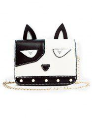 Flap PU Leather Cartoon Crossbody Bag -