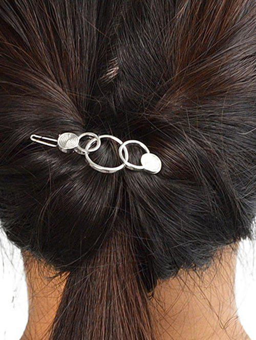 Outfit Simple Metal Circle Hairpin