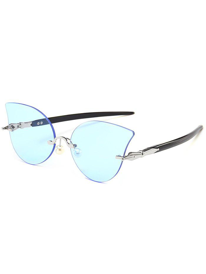 Latest Anti UV Rimless Pearl Driver Sunglasses