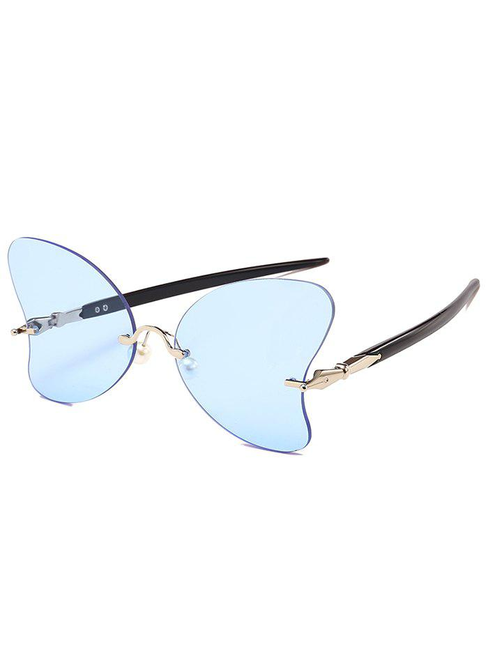 Best Unique Rimless Pearl Butterfly Sunglasses