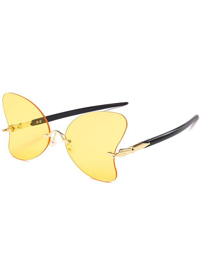 Shops Unique Rimless Pearl Butterfly Sunglasses