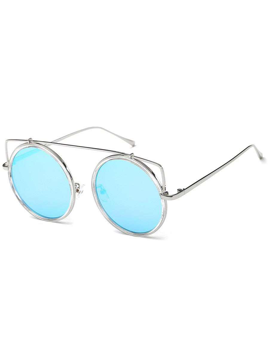 Latest Metal Frame Crossbar Circle Sunglasses