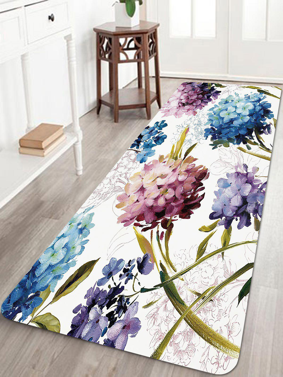 Fashion Flowers Pattern Anti-skid Water Absorption Area Rug