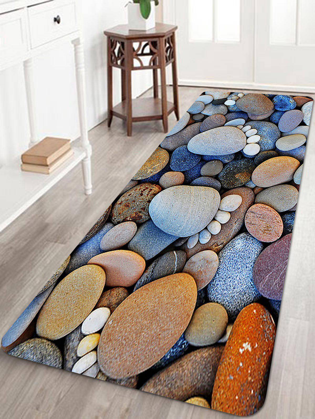 Latest Stones Footprint Pattern Anti-skid Water Absorption Area Rug