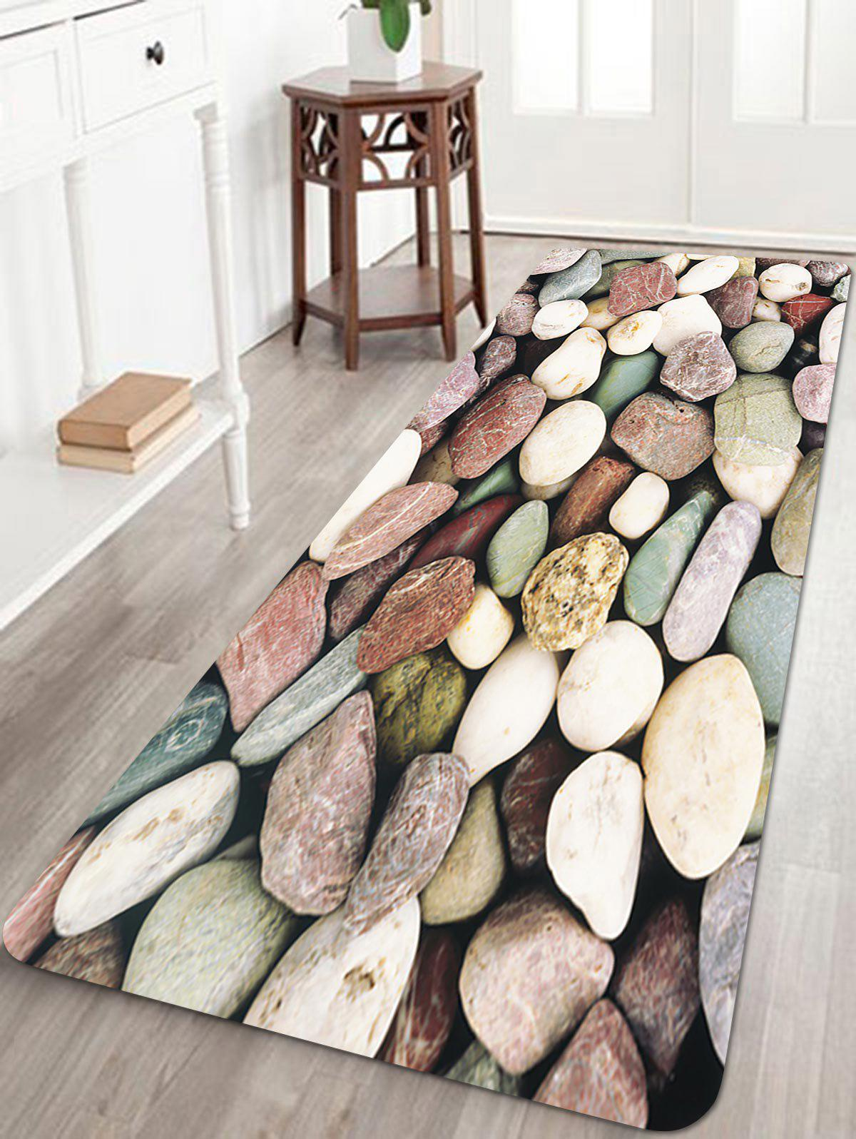 Chic Stones Pattern Anti-skid Water Absorption Area Rug