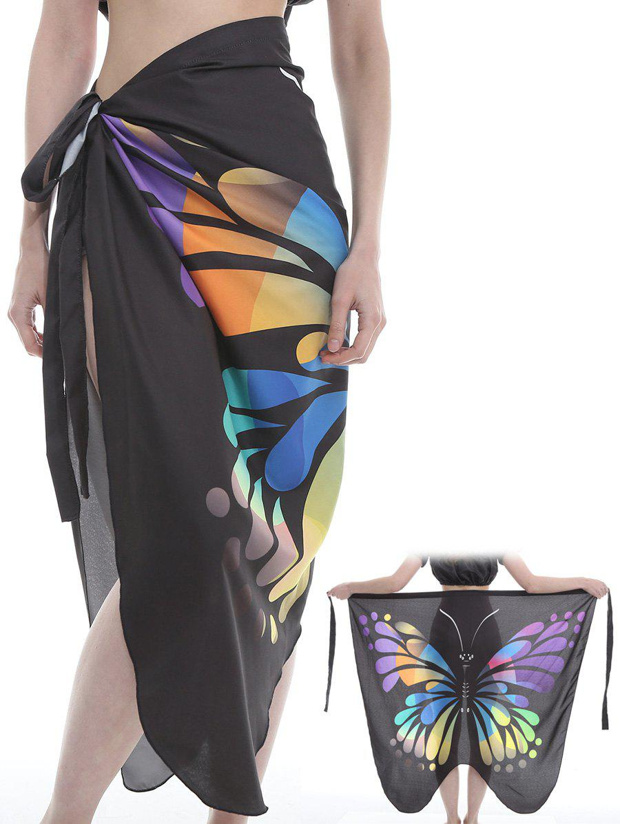 Best Flying Butterfly Pattern Silky Beach Scarf