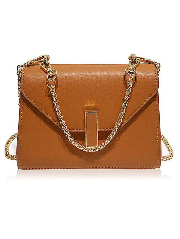 Cheap Faux Leather Flap Crossbody Bag with Chain