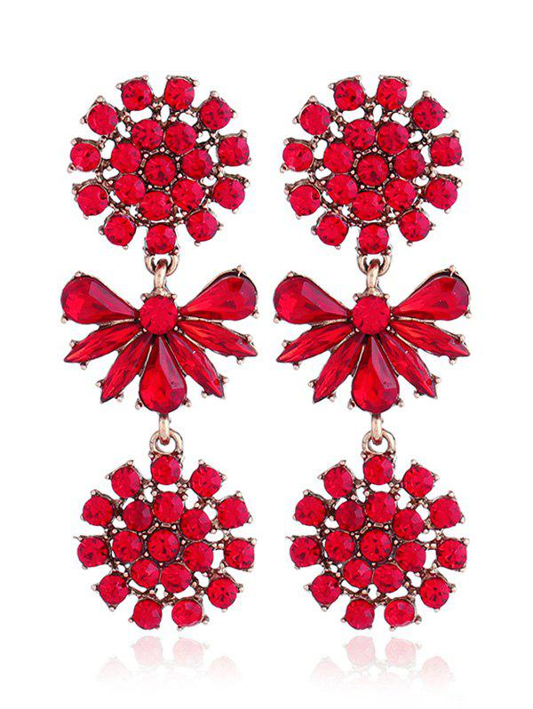 Cheap Artificial Crystal Alloy Floral Party Earrings