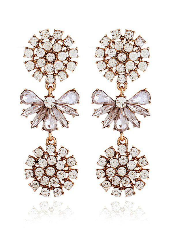 Sale Artificial Crystal Alloy Floral Party Earrings